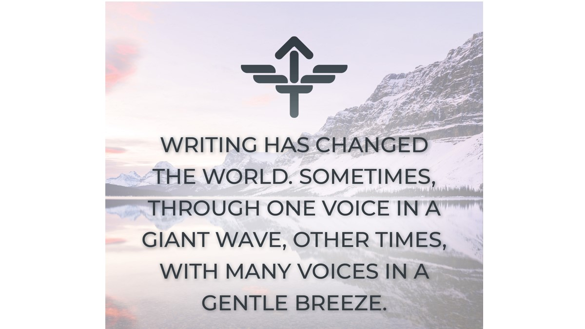 Writing has changed the world.